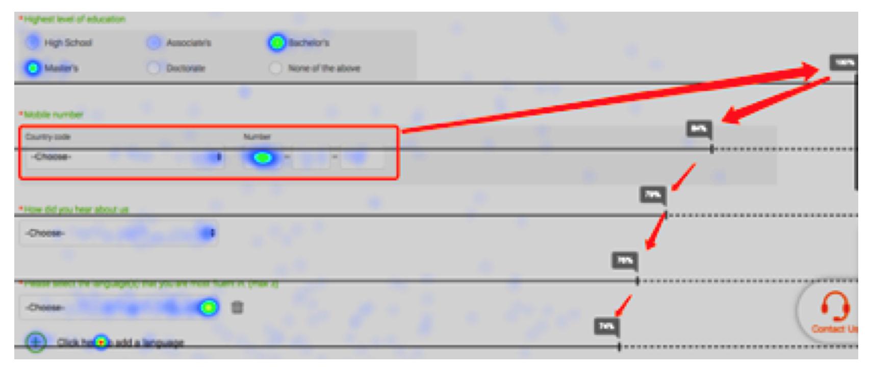 Optimizing using heatmap analysis of Ptengine by VIPKID